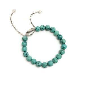 David Yurman Turquoise 8 Mm Spiritual Bracelet